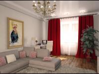 гостиная, вид на окно