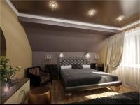 спальня, вид на кровать