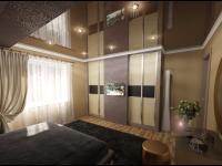 спальня, вид на гардеробную