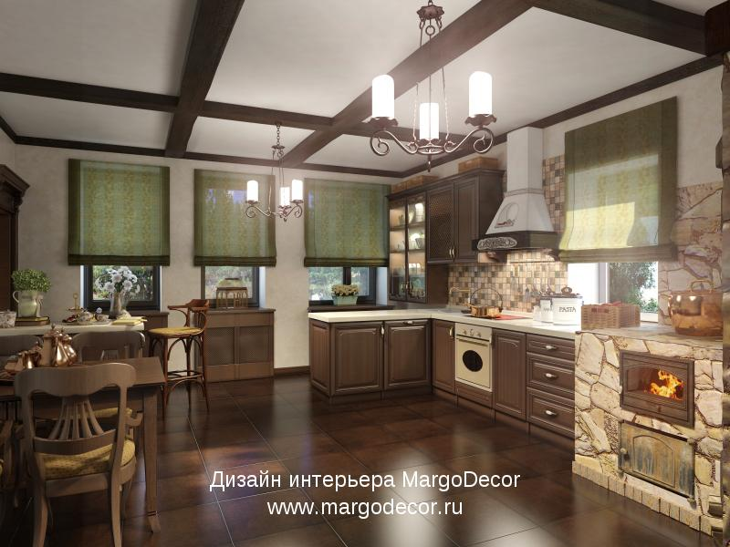 Кухня с печным отоплением дизайн